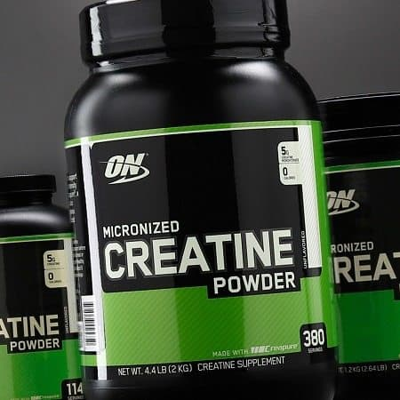 Bottle Of Creatine Powder